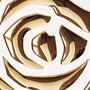 Sibu Designplatte PL 3D Roses Pearl White PF/Gold