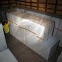 造形素材は、ダウ加工のスタイロフォーム。