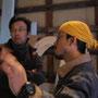 陶芸部門の担当、髙田裕之さんと。