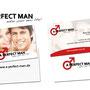 A PERFECT MAN (Logoerstellung & Visitenkarten Design mit spezieller Glanzlackbeschichtung)