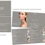 IMAGE COSMETIC - Gestaltung von Visitenkarten und Broschüre mit spezieller Glanzlackbeschichtung