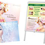 Kundenstopper + Season Flyer (mit partieller Hochglanzlackierung) - Kunden: TCM Winterthur & Skin|Estetic