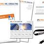 TOMEA, INC. - Komplette Geschäftsausstattung (Briefpapier, Kalender, Notizblöcke, Präsentationsmappen, Visitenkarten, Schlüsselbänder, Stempel, Kugelschreiber mit Logo, etc.