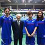 愛知県バスケットボール協会石丸会長(デンソー特別顧問でもあります)