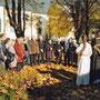Aufstellung am Denkmal der Franztaler