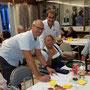 Beim Würfelspiel mit Peter Birgel und Raimund Hofbauer