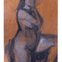 Blue figure – 2008 / 90 x 40 cm / Oils on paper