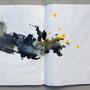 A3 Sketch book spread 1 – 2014 / Inks