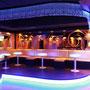 Die separate Lounge lädt zum relaxen nach dem Tanzen ein