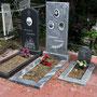 Интересна могила посередине - захоронение Севастьяновых: мать и двое сыновей, погибших во время войны в концлагере. Квартал 45-Н