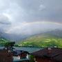 Traumhafte Aussicht vom Zimmer inkl. Regenbogen