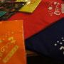 熊野市の学童保育クラブ「くまのっ子学童クラブ」様のお子さんたちが使うバンダナ。学年ごとに色が違います!