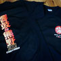 紀州路最大,真夏の太鼓フェス「響鼓in熊野2012」の物販用Tシャツです。 今年のバージョンはポスター文字を利用したフルカラーverで、文字のグラデーションも綺麗に出ています♪