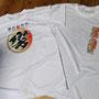 今年販売する2017バージョンのTシャツです。グラデーションがきれいな昇華プリントで製作しました。本部ブースにて販売予定です。響鼓ファンの方は是非!♪