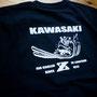 70年代を代表するバイクKAWASAKIのZオーナーが集まる三重Zミーティングがこの20日21日に開催され、記念Tシャツのオーダーを頂きました。 今年は40周年の記念大会だったようですね♪