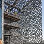 détail de la façade du J4 au MuCEM à Marseille
