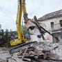 chantier de déconstruction des anciennes papeteries de Cran Gevrier