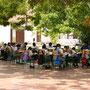 Unterricht auf der Plaza