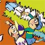 コドモノ道 たくさん遊べ子どもたち 筆線キャラクタータッチ