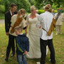 Hochzeit mit Bogenschießen
