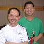 渡辺先生と王輝老師。