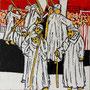 """""""Choreografie der Revolution 6"""", Mixed Media auf Schichtholz, 38 cm x 38 cm, 2012"""
