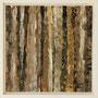 """Waldstreifen 6"", Acryl auf MDF, 20 cm x 20 cm, gerahmt, 2008"