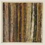 """Waldstreifen 15"", Acryl auf MDF, 20 cm x 20 cm, gerahmt, 2008"