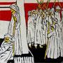 """""""Choreografie der Revolution 8"""", Mixed Media auf Schichtholz, 38 cm x 38 cm, 2012"""