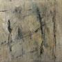 """""""Zeit und Raum 4"""", Acryl auf Bw, 80 cm x 80 cm, 2001"""