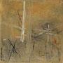 """Zeitspur 1"", Acryl auf BW, 40 cm x 40 cm, 2002"