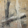 """""""Zeit und Raum 3"""", Acryl auf Bw, 80 cm x 80 cm, 2001"""