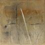 """Zeitspur 2"", Acryl auf BW, 40 cm x 40 cm, 2002"