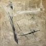 """""""Zeit und Raum 1"""", Acryl auf Bw, 80 cm x 80 cm, 2001"""