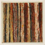"""Waldstreifen 5"", Acryl auf MDF, 20 cm x 20 cm, gerahmt, 2008"