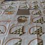 essais de mise en forme avec les paniers en patchwork