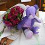 De jolies fleurs et  gentil éléphant