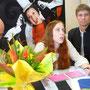 Cécile Corel en dédicace avec l'Espace culturel de Ploufragan à la Foire expo de St Brieuc