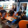Café voile avec Roland Jourdain à l'Espace culturel de Concarneau