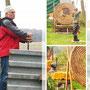 7. Heide-Waldpokal 3D Turnier am 05.04.2014 in Merkwitz - Das erste bewegte Ziel, ein Fasan, der sich drehte.