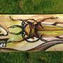 insektenmann| 200x 70 cm | marker - acryl on paperboard |