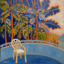 """The White Chair #2"", oil on canvas, 18""x18"", 2011. SOLD."