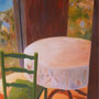 """Solitary Chair"", oil on canvas, 40"" x 30"", 2013. NFS"