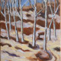 """Edge of Wood"", oil on canvas, 12""x9"", 2008. SOLD."