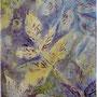 """""""Garden Dusk"""", acrylic and nature print on canvas, 12""""x10"""", 2006. NFS"""