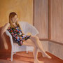 """Woman in White Chair"", oil on canvas, 60"" x 48"", 2013. NFS"