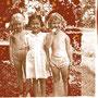 """Christine & Geraldine"", digital collage, 2001. Christine and Geraldine were my two best friends who lived on Pringitt Hill in Malacca."