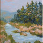 """Bearspaw Creek"", oil on canvas, 10""x8"", 2008. SOLD."