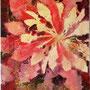 """Christmas Dandelion"", acrylic and nature print on canvas, 16""x12"", 2006."