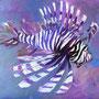 Feuerfisch III: Acryl auf Papier, 64 x 50 cm
